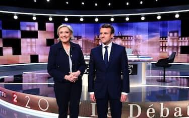 le_pen_macron_dibattito_getty