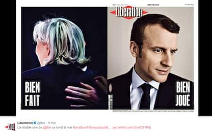 Francia, la vittoria di Macron sui media di tutto il mondo. FOTO
