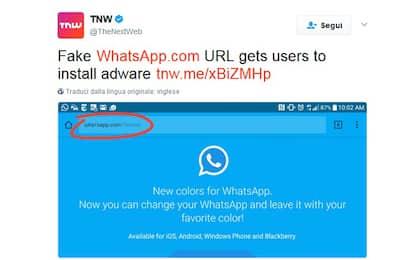 WhatsApp a colori? In realtà si tratta di un virus