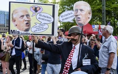Proteste anti-Trump a Bruxelles