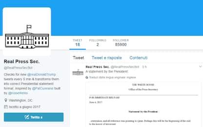 Il bot che trasforma i tweet di Trump in comunicati della Casa Bianca