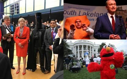 Elezioni Uk, le stranezze: May sfidata da Lord Buckethead e dai muppet