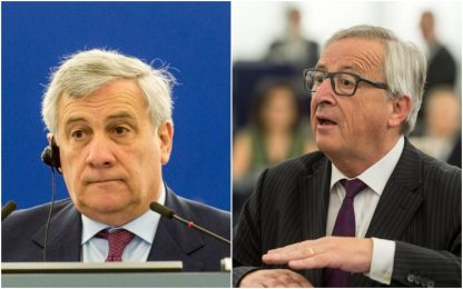 """Europarlamento deserto, Juncker: """"Ridicoli"""". Scontro con Tajani: video"""