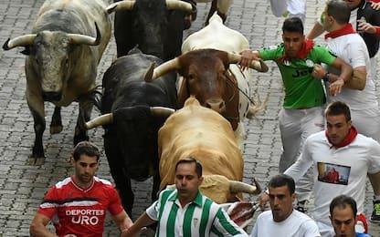 La corsa con i tori di san Fermín