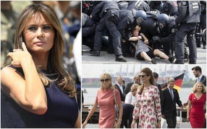 G20, Melania Trump bloccata da manifestanti. Cambia programma consorti