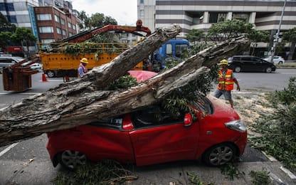 Taiwan, migliaia di evacuati e 81 feriti per il tifone Nesat. FOTO