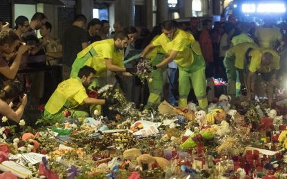 Barcellona, oggetti per le vittime
