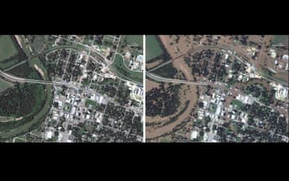 Harvey, il Texas prima e dopo l'uragano