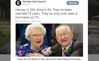 Si chiamano Harvey e Irma, e sono felicemente sposati da 75 anni