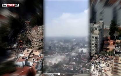 Terremoto in Messico, la scossa e i crolli visti dall'alto. VIDEO