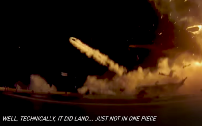 """""""Come non far atterrare un razzo"""": SpaceX celebra i suoi errori. VIDEO"""