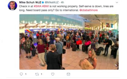 Aeroporti internazionali nel caos, in tilt il sistema dei check-in
