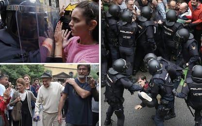 Referendum Catalogna, scontri e violenze ai seggi: 844 feriti
