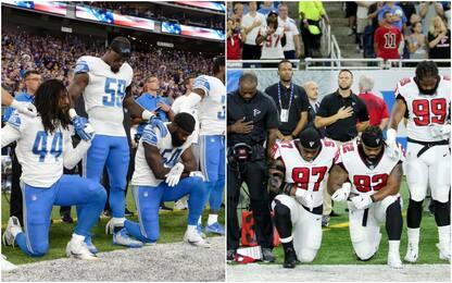 Nfl snobba Trump, i giocatori potranno inginocchiarsi per protesta