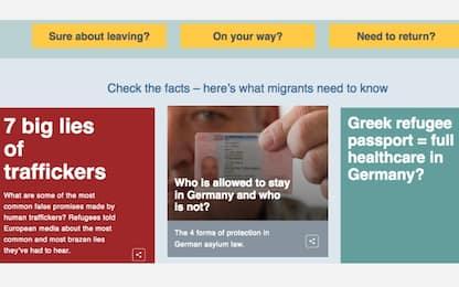 In Germania un sito smentisce i miti che spingono i migranti a partire