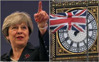 """Brexit, May: """"Regno Unito lascerà l'Ue alle 23 del 29 marzo 2019"""""""