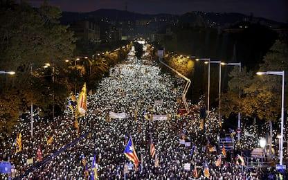 barcellona, marcia per i detenuti