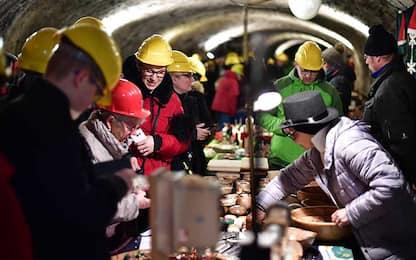 Il mercatino di Natale nelle miniere