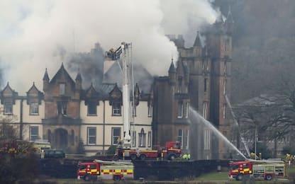 Incendio in hotel di lusso in Scozia