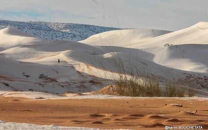 Le neve nel Sahara FOTO