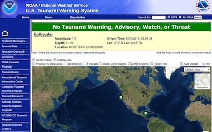 Sisma di magnitudo 7.2 al largo dei Caraibi, non risultano morti