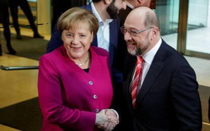 """Svolta in Germania, c'è l'accordo sulla """"Grande Coalizione"""""""