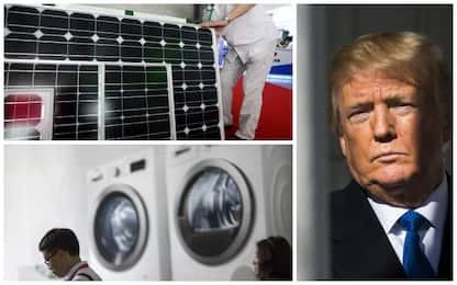 Usa, Trump impone dazi su import di pannelli solari e lavatrici