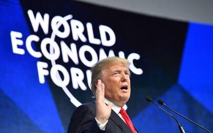 """Trump a Davos: """"America First non vuol dire America da sola"""""""