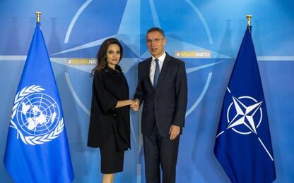 Angelina Jolie alla Nato contro la violenza sulle donne