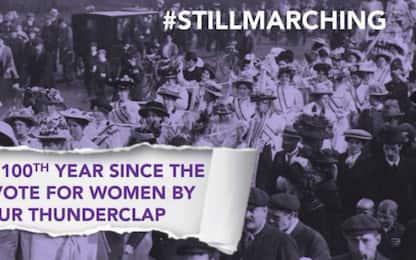 #StillMarching: 100 anni dopo il voto, le donne continuano a marciare