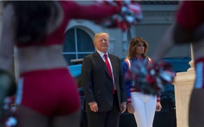 Super Bowl, i Trump insieme al party