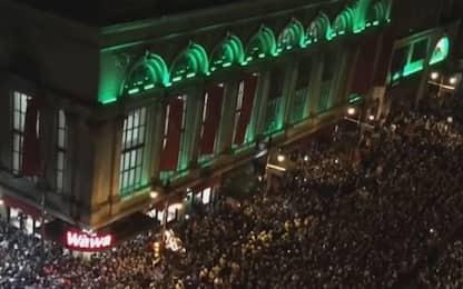 Super Bowl, la festa tifosi degli Eagles a Philadelphia