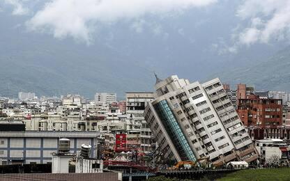 Taiwan, l'albergo crollato dopo il sisma