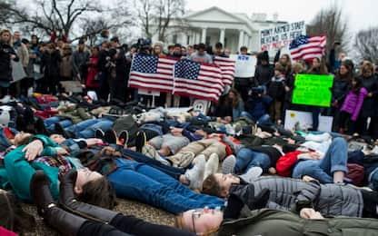 Usa, protesta contro armi facili