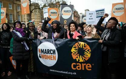 La marcia delle donne a Londra
