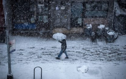 Tempesta di neve su Jersey City e Manhattan: IL VIDEO IN TIMELAPSE