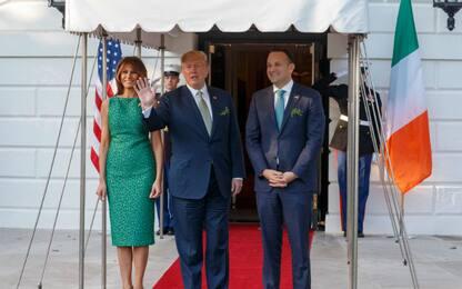 Melania Trump in verde per San Patrizio