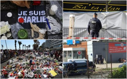 Da Charlie Hebdo a Trebes, tre anni di attentati e terrore in Francia