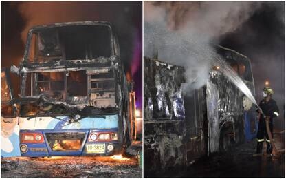 Thailandia, incendio su un autobus di operai: 20 morti
