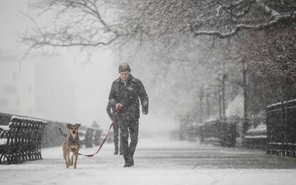 New York sotto la neve a Pasquetta. FOTO