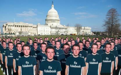 Protesta a Washington contro Zuckerberg