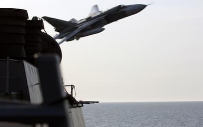 Cacciatorpediniere Usa verso Siria, jet russi a bassa quota