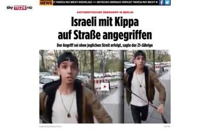 """Antisemitismo, giovane aggredito a Berlino: """"Non sono ebreo, era test"""""""