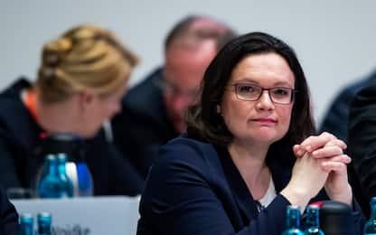Germania, Andrea Nahles è la prima donna a capo dell'Spd