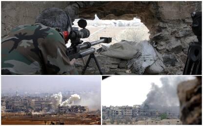 Siria, missili contro basi militari: almeno 40 morti