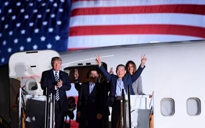 Usa, rientro ostaggi Nord Corea. FOTO