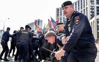 Mosca, protesta contro blocco Telegram