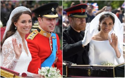 Harry-Meghan e William-Kate a confronto
