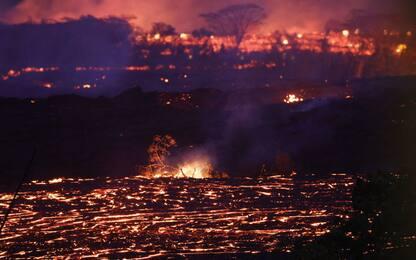 Hawaii, fiumi di lava dal Kilauea. FOTO
