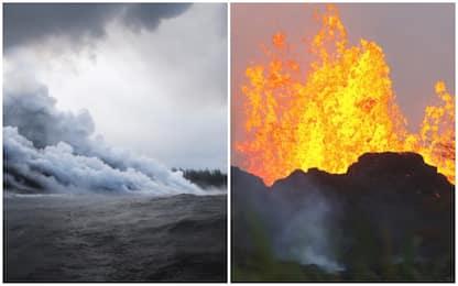 Hawaii, lava in mare crea nube tossica